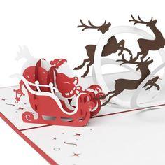 LovePop Cards 3D Pop Up Greeting - Santa's Sleigh - INPCreative - 1