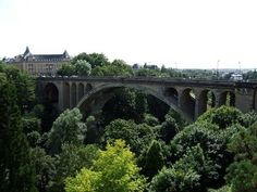 Pont Adolphe in Luxembourg City erected between 1900 and 1903