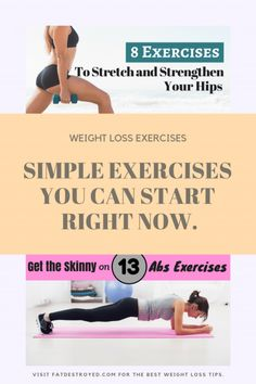 Try and focus on getting enough physical activity throughout the week. Here are some of the best weight loss exercises to ensure you lose excess pounds. Weight Loss Routine, Quick Weight Loss Tips, Weight Loss Help, Losing Weight Tips, Weight Loss Program, Weight Loss Motivation, How To Lose Weight Fast, Health Motivation, Reduce Weight