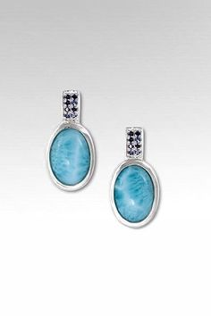 Larimarket - MarahLago Reah Collection Larimar Earrings with Blue Sapphire, $258.00 (http://www.larimarket.com/marahlago-reah-collection-larimar-earrings-with-blue-sapphire/)