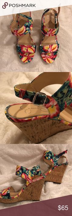 Jessica Simpson wedges Floral wedges perfect for spring and summer! Never worn! Shoes Wedges