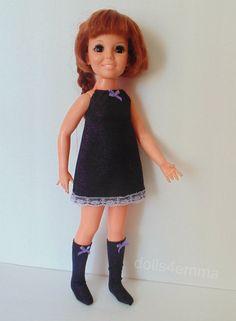 Retro DRESS + BOOTS for CRISSY Doll Handmade Clothes Fashion NO DOLL dolls4emma
