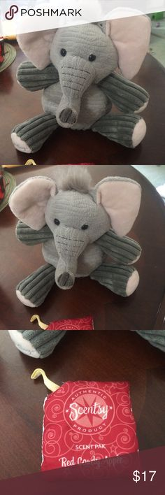 Ollie the Elephant Scentsy Buddy Ollie the Elephant Scentsy Buddy is great condition. Comes with a Red Candy Apple scent pak! Smoke free home. Bundle and save. Feel free to ask any questions or make an offer using the offer button! scentsy Accessories