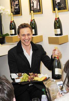 Fruit, drinks, and Tom Hiddleston!