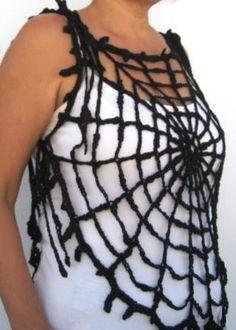Gothic Halloween Spider Web Gothic Black