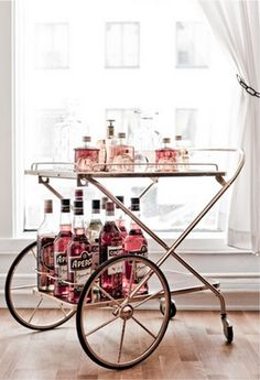 alcohol cart. If Kate can't drink, we shall drink for her! Cheerio!