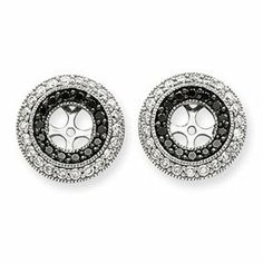 #blackdiamond14whitegold #blackdiamond 14k White Gold Black and White Diamond Earrings Jackets – JewelryWeb by JewelryWeb - See more at: http://blackdiamondgemstone.com/jewelry/earrings/earring-jackets/14k-white-gold-black-and-white-diamond-earrings-jackets-jewelryweb-com/