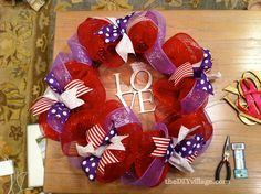 Valentine Wreath: tutorial - the DIY village