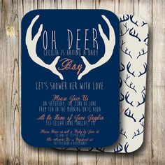 How do you make a boy shower cute, yet manly?  Introducing the OH DEER Baby Boy Shower Invitation! by Oh Be Joyful Creative // Cute and punny with a boyish flair, these unique baby shower invitations will have your guests excited to share in your mom-to-bes special memories!  // Quirky Hipster Baby Boy Shower Invitation // Gorgeous Printing & Die Cut Options // Navy, Orange, Coral, Tan // Custom Personalized // Baby Girl // Birthday WWW.OHBEJOYFULCREATIVE.COM
