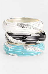 Sequin Large Insect Wing Enamel Bangle