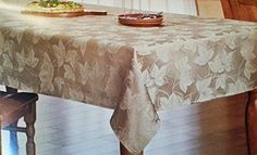 "Harvest Season Woven Leaf Tablecloth,Gold 60""x102"" Oblong Croft & Barrow http://www.amazon.com/dp/B00Y1DIQIU/ref=cm_sw_r_pi_dp_.f8owb0JEGNB1"