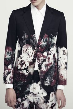 Kim Seo Ryong Homme S/S 2013 lookbook / tailored prints