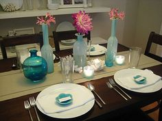 Blue and Casual Placesetting