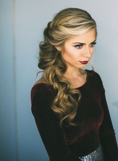 Holiday hair and makeup by Vivian Makeup Artist. Such a gorgeous dramatic look perfect for Christmas parties/ holiday parties.