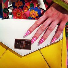 More #DeborahLippmann nail art fun at Kate Spade. #NYFW @lipmeister #NYFW