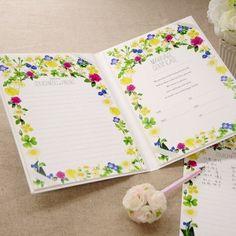 結婚証明書(ゲスト参加型)「フラワーガーデン(51~102名様用)」/結婚式 http://www.farbeco.jp/shopdetail/000000009225/025/Y/page1/recommend/