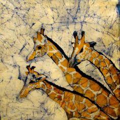 Giraffes batik by Chris Taylor