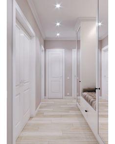 На данном изображении может находиться: в помещении Home Room Design, Interior Design Living Room, Living Room Designs, Minimal House Design, Flur Design, Design Design, Hallway Designs, Minimalist Home Decor, Apartment Design