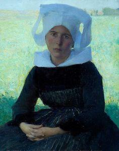 Pascal Dagnan-Bouveret - Woman in Breton Costume | da irinaraquel