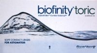 Biofinity Toric Contact Lenses, Buy Biofinity Toric Lenses, Shop online and save over 70% at E2eopticians store.