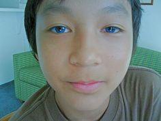 An asian with blue eyes? | da Pam Skaifa Wong