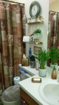 Bathroom wall (no more glass sliding shower doors!!)
