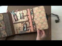 8x8 Graphic45 A Ladies Diary Mini-Album - YouTube