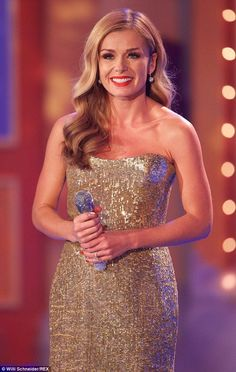 Katherine Jenkins dazzles in golden gown as she performs on German TV Katherine Jenkins, Strapless Dress Formal, Formal Dresses, Looking Stunning, My Idol, Evening Dresses, Most Beautiful, Singer, Glamour