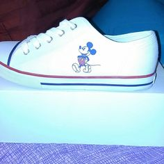 Disney Mickey mouse Shoes I bought these for a trip to Disneyland and I didn't like the fit. They are 9 in women's. If you have any questions just ask. Disney Shoes Sneakers