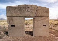 This is the sky gate located at Tiahauanaco in Bolivia. This is perhaps one of the most mysterious places on the planet. Visiting here is on my bucket list!