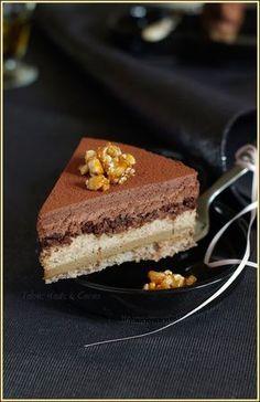 Entremets à la noisette, café et chocolat noir un trio plus que gourmands pour un premier dessert des Fêtes de
