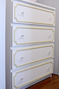 IHeart Organizing: updating an IKEA dresser with overlays