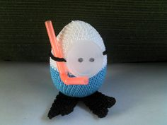 crocheted snorkel egg combined w/straw & water bottle cap...perfect for any little swimmer's Easter basket...created by Danita