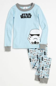 Hanna Andersson 'Stormtrooper' Two Piece Fitted Organic Cotton Pajamas (Toddler) | Nordstrom