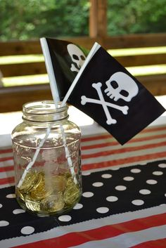A centrepiece for a pirate themed party