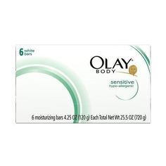 Olay Body White Sensitive Bars Soap 6 Bars Oz Pack of 8 Bars Total) Shower Soap, White Bar, White Bodies, Olay, Bar Soap, Face And Body, Sensitive Skin, Surface, Cosmetics