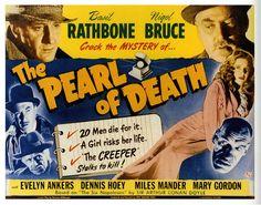 The Pearl of Death (1944) Sherlock Holmes thriller starring Basil Rathbone, Nigel Bruce, Rondo Hatton, Evelyn Ankers, Dennis Hoey
