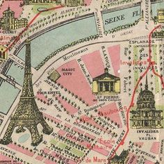 map of paris 1920 old maps of paris