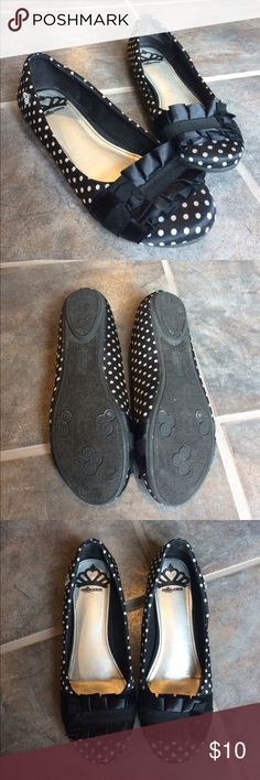 Polka dot flats These are super cute! Worn only once, they're a little too big for me. Regardless of that they were super comfortable and stay on your feet really well unlike other flats! Fergalicious Shoes Flats & Loafers