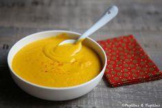 Velouté de carottes, patates douces, curry et gingembre