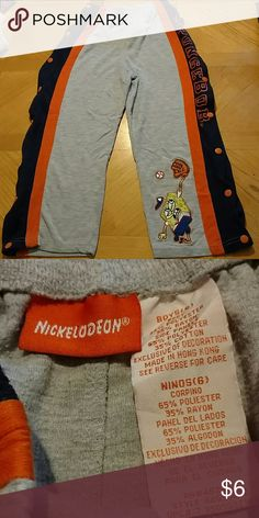 Spongebob pants SpongeBob pants. These are the pants that have buttons all the way down both legs. All the buttons work. Excellent condition. Smoke free home. Size 6 boys. Nickelodeon Bottoms Sweatpants & Joggers