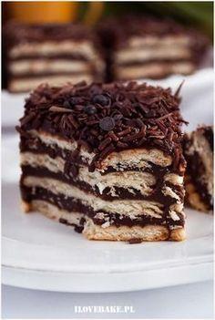 Zdjęcie: Ciasto czekoladowe bez pieczenia Poke Cakes, Lava Cakes, Baking Recipes, Cake Recipes, Dessert Recipes, Cookie Desserts, No Bake Desserts, Nutella, Unique Desserts