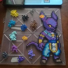 Lord Beerus - Dragon Ball perler beads by itsno1ne
