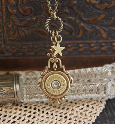 357 Magnum Bullet JewelryHeart Charm Drop by lauralynns on Etsy, $29.50