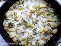 Jednoduché, vděčné a zdravé jídlo. Uzené tofu dodá jídlu nejen bílkoviny, ale i zajímavou chuť. Tofu, Seitan, Sweet And Salty, Quiche, Food Porn, Cooking Recipes, Vegetarian, Meat, Chicken