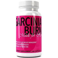 GARCINIA BURN For Her 100% Pure GARCINIA CAMBOGIA EXTRACT Best Diet Pills with Pure HCA   #1 Premium Best All Natural New & Improved Fat Loss Formula and Appetite Control   Made in the USA