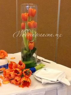 "tulip centerpieces for weddings | WeddingCancun's album ""Centerpieces"" — Photo 5 of 42"
