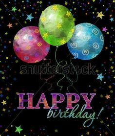 Happy Birthday, FACEBOOK! - Elegant pin of rainbow colored stars and balloons on a black background like the night sky. https://www.pinterest.com/DianaDeeOsborne/happy-birthday-facebook/ - Nice Easter Egg colors especially for a March or April spring baby, especially! Photo pinned via cynthia saborart's nice aniversarios cumples festejos #Pinterest board.