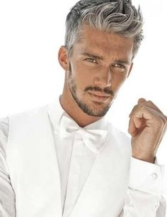 .I love  a man with salt and pepper hair!!