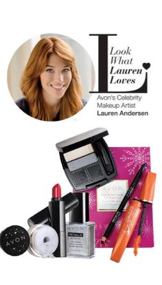 It's the season to sparkle & shine! Get a perfectly paired Holiday look by Avon's Celebrity Artist Lauren Andersen! #AvonRep